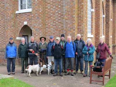 Probus Walkers at Baddiley Church
